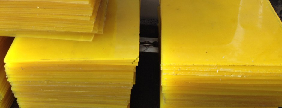 Листы желтого полиуретана