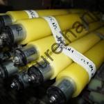 Полиуретановые валы желтого цвета